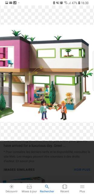 Playmobil Maison Moderne N 5574 Meublee Avec Piscine Et Voiture Ebay