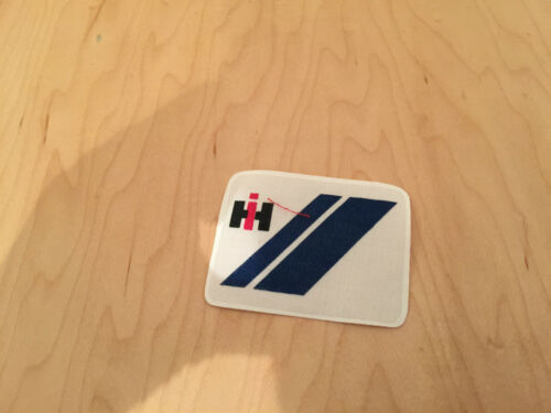 "international harvester/""IH/"",VINTAGE,patch,80/'s nos,rectangle iron on"