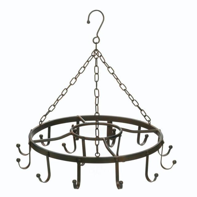 Circular Iron Hanging Pot Rack For