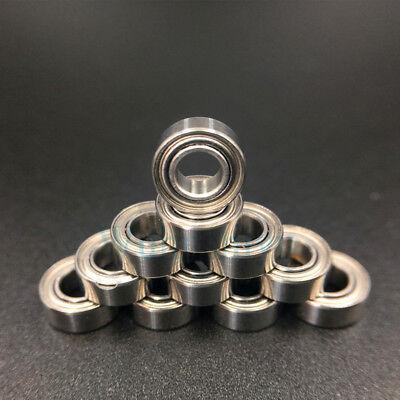 10pcs MR105ZZ MR105 5X10X4mm Miniature Ball Bearings Shielded Mini Deep Groove