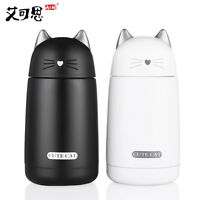 Cartoon Cute Cat Kids Thermos Cup Insulated Drinkware Water Bottle Vacuum Flask