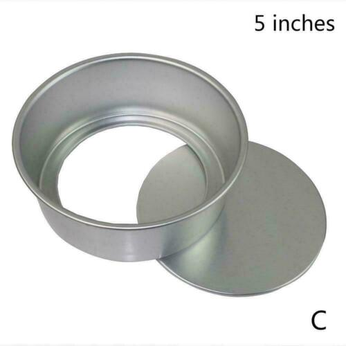 Round Mini Cake Pan Removable Bottom Pudding Mold DIY Moulds Baking Hot W0Z5