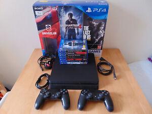PS4 Slim. 1TB. 2 x Controllers. 7 x Games. Boxed. CUH-2116B.