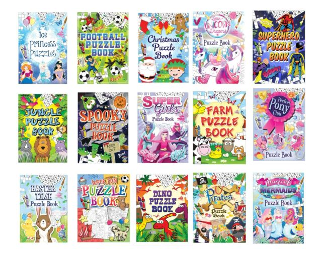 A6 Mini Childrens Activity Books Colouring Puzzle  Kids Party Bag Fillers