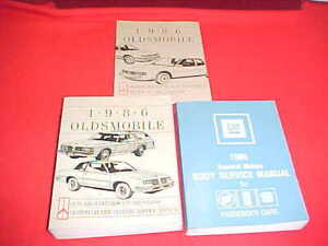 1986 OLDSMOBILE CUTLASS SUPREME 442 SERVICE SHOP REPAIR ...