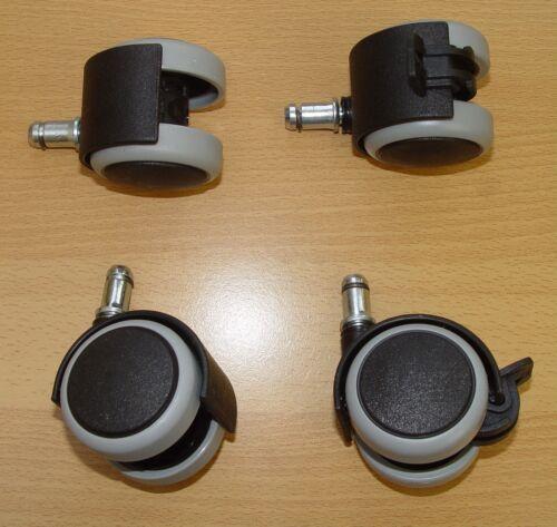Set di mobili ruolo 50 mm penna di bloccaggio 8 11 mm pavimento duro ruolo con freno senza lasciare traccia grigio