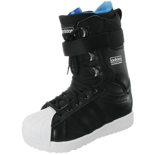 Adidas The Superstar Snowboarding Boots black white Men's Snowboard boots NEW