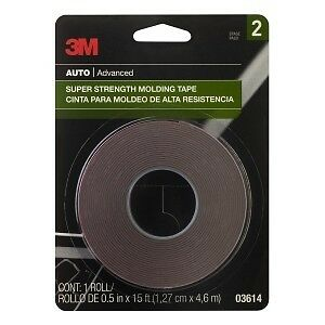 3m scotch mount super strength molding tape 5 x 15 ft tape roll 3614 03614 ebay. Black Bedroom Furniture Sets. Home Design Ideas