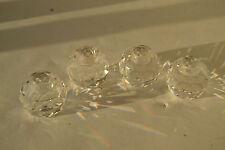 Set of 4 SWAROVSKI CRYSTAL ROUND BALL Candle Holders Lot