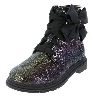 JoJo Siwa GIRLS/' JOJO MOTO BOOT Rainbow Glitter Combat Style Boots Shoes 13-6