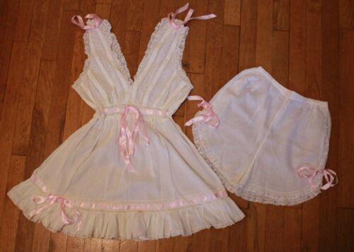 Vintage 70s 80s Does Victorian Lingerie Cotton Lac