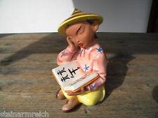 22cm GMUNDNER KERAMIK Figur sitzender, lesender CHINESE Gmunden Austria 2279