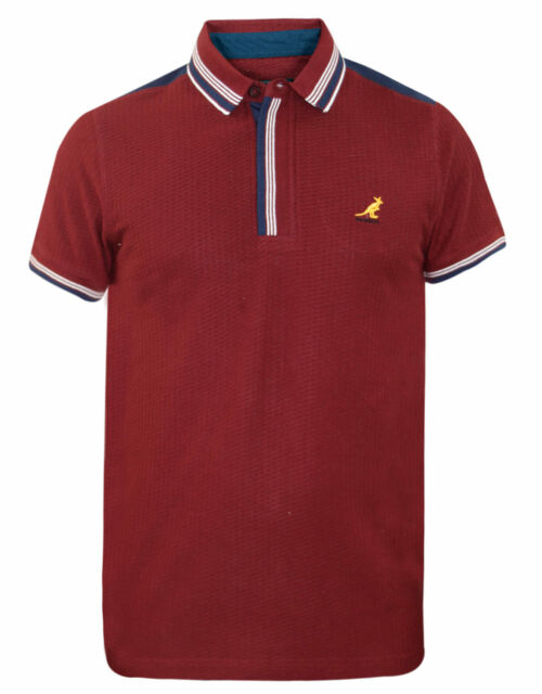 3399baf3 Mens Kangol BRAND Polo T Shirt Contrasted DESIGNER Top Self Patten ...