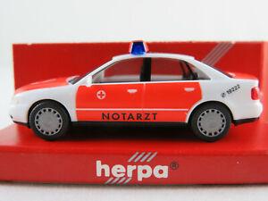 Herpa-044004-audi-a4-Limousine-1994-1999-034-BRK-ambulancia-034-1-87-h0-nuevo-en-el-embalaje