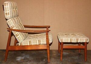 Astonishing Details About Vintage Danish Modern Teak Arne Vodder Lounge Chair Ottoman Mid Century Pabps2019 Chair Design Images Pabps2019Com