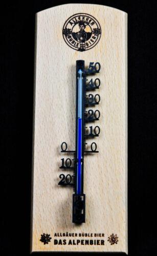 Comme aime, büble extérieure/intérieure thermomètre sur socle de hêtre