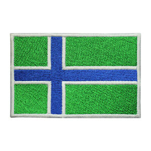 South Uist County Flag Patch Iron On Patch Sew On Embroidered Patch