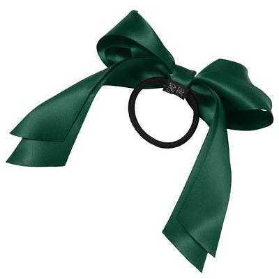 Women Multicolor Satin Ribbon Bow Hair Band Rope Scrunchie Ponytail Holder qqau