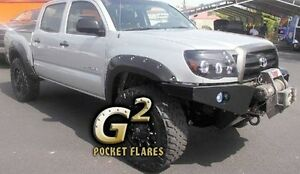 Fits Textured Black 05-11 Toyota Tacoma Pocket Rivet Fender Flares Long Bed 6/'
