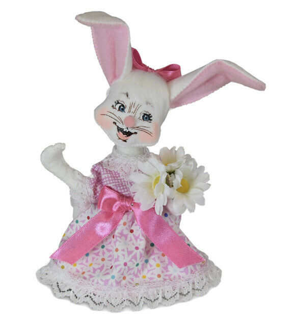 NWT ANNALEE DOLL 6 INCH EASTER PARADISE GIRL BUNNY