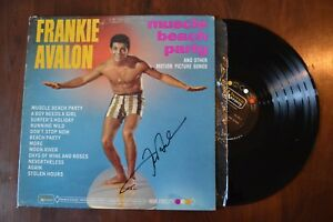 Frankie-Avalon-Muscle-Beach-Party-Movie-Signed-Record-lp-original-vinyl-album