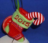 Hallmark Keepsake Kids Plush Fabric Ornament 2015 Stitched Stocking Ages 2+