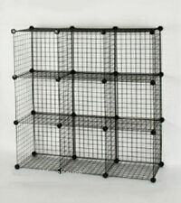 3 X 3 Black 9 Wire Cube Storage Organizer Retail Display Home Rack Shelving