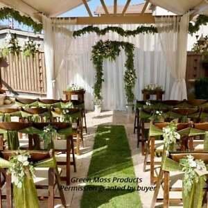 2/'x16/' REAl SHEET MOSS RUNNER aisle wedding church Ceremony reception decoration