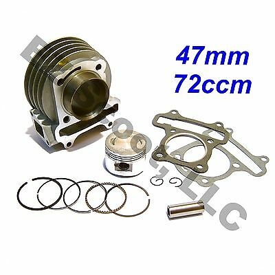 PERFORMANCE BIG BORE CYLINDER  72ccm 47mm 139QMB GY6 4STROKE CHINESE SCOOTER VIP
