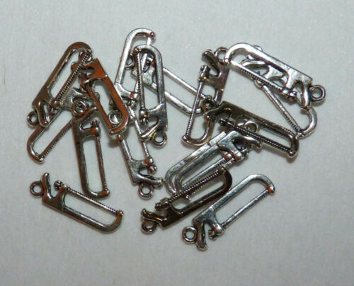 TIBETAN SILVER TOOL CHARMS//DIY SAWS//HAMMER//DRILL//SPANNERS//SCREWDRIVER #CRAFTS