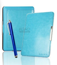 Aqua Leather Case for Amazon Kindle Paperwhite 5 6 WiFi Cover w/ Sleep Mode