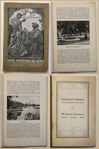 Folleto-original-Bad-kudowa-para-1906-balneario-viaje-ortskunde-geografia-SF