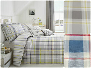 Rathmore-Bedding-Mens-Design-Reversible-Chequered-Check-Classic-Striped-Reverse