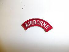 b0378 WW 2 US Army Airborne Tab White on red PIR Parachute  R3D