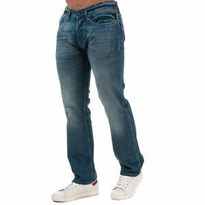 Mens-Replay-Newbill-Comfort-Fit-Jeans-In-Denim