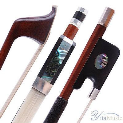 Advanced Model ! A Pernambuco Cello Bow Sterling Silver