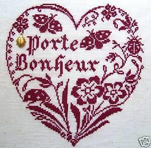 GRILLE POINT de CROIX - COEUR PORTE-BONHEUR +charm - réf : 4011 | eBay