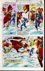Original-1970-039-s-Captain-America-238-page-26-Marvel-Comics-color-guide-art-1979