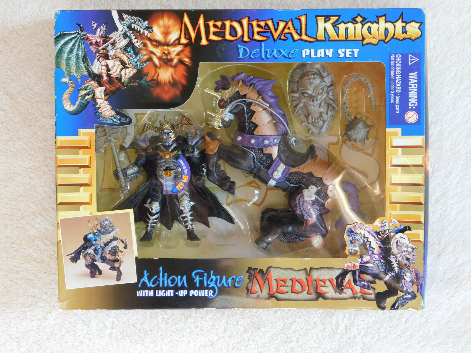 Chap Mei Medieval Knights Doom Knight and Pferd set MIB