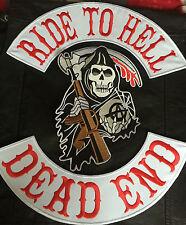 Ride to Hell Dead End Reaper Backpatch Set  ohne Kutte MC Biker  Chopper