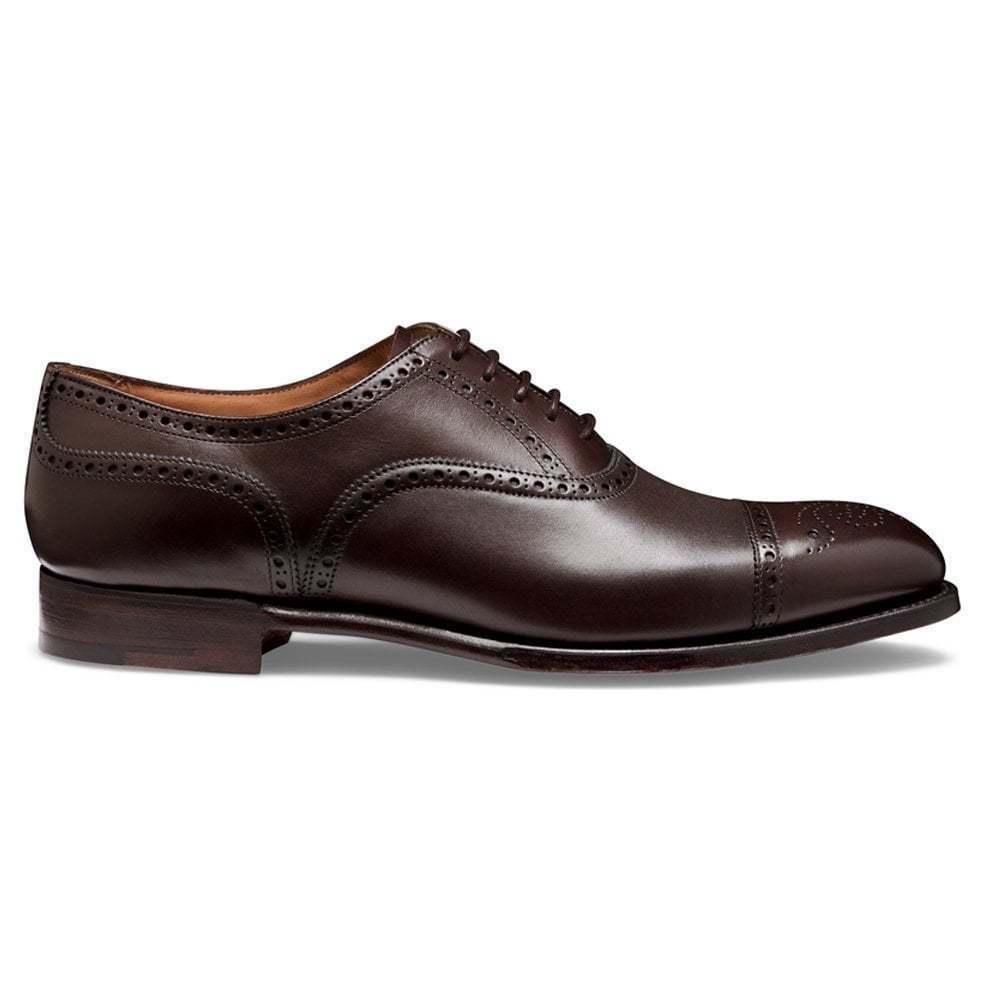 Homme Fait à la main Chaussures en cuir marron foncé classique bouts Richelieu à Oxford Bout d'aile neuf