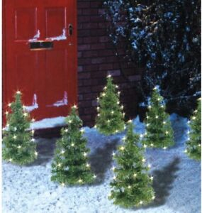 Christmas Pathway Lights.Details About Set Of 6 Christmas Tree Pathway Lights Garden Lawn Patio Path Decoration Lights