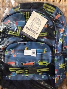 Pottery Barn Kids Large Backpack Airplane Lunch Box Mackenzie Blue No Mono Set