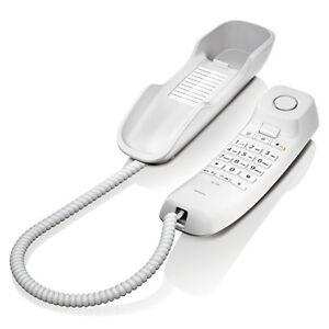 TELEFONO-CABLE-GIGASET-SIEMENS-DA-210-BLANCO