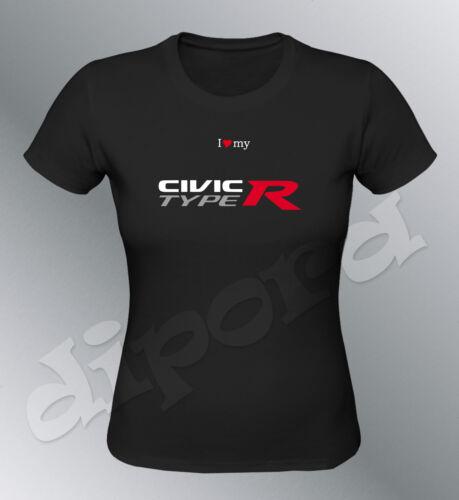 T-Shirt passt civic Typ r sml XL Frau Sport