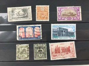 France-French-Colonies-8-stamps-used-MH-and-MNG-all-different-bargain