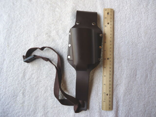Genuine Leather Brown Tool Belt With Adjustable Strap