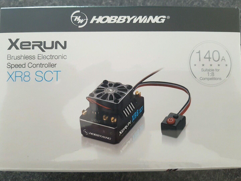 HOBBYWING XR8 SCT 140 AMP ESC GENUINE  PRODUCT SEALED.  fornire un prodotto di qualità