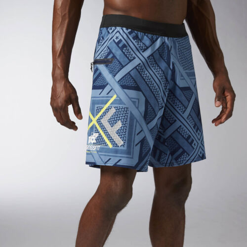Tênis masculino Reebok Crossfit Super Placa De Velocidade desagradável Marinha Curta Slim Fit Board Shorts