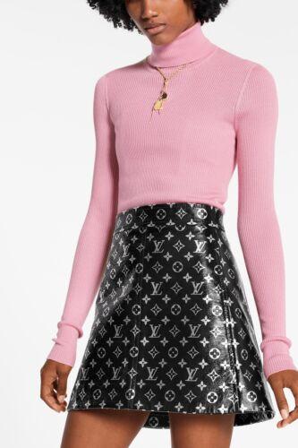 Louis Vuitton Monogram Leather Mini Skirt